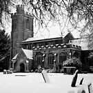 St Nicholas in the snow by Fiona Gardner