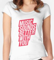 Music Sounds Better With You - red Women's Fitted Scoop T-Shirt