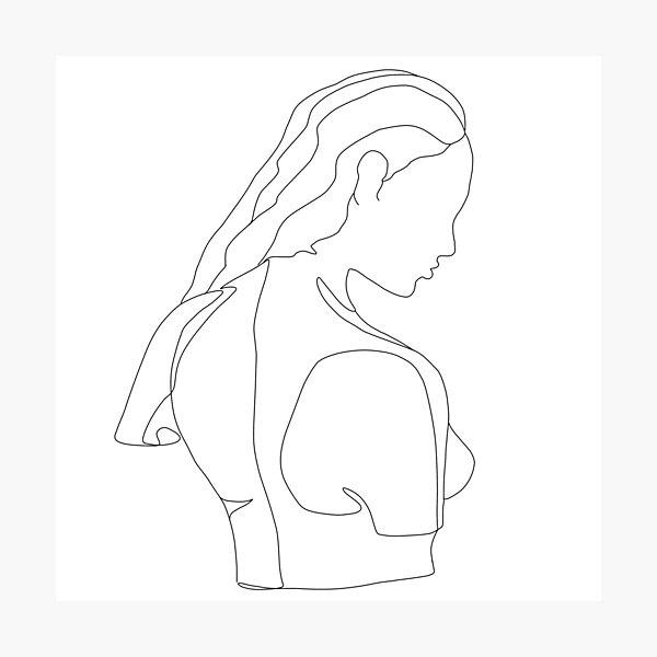 Woman Body Line Art Photographic Print