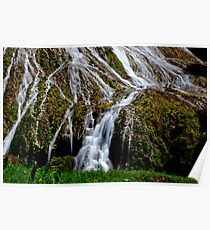 Flowing waterfall rivulets Poster