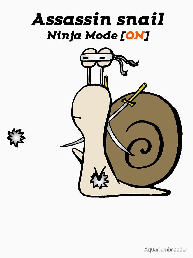Funny Assassin Ninja Mode ON Snail by Aquariumbreeder