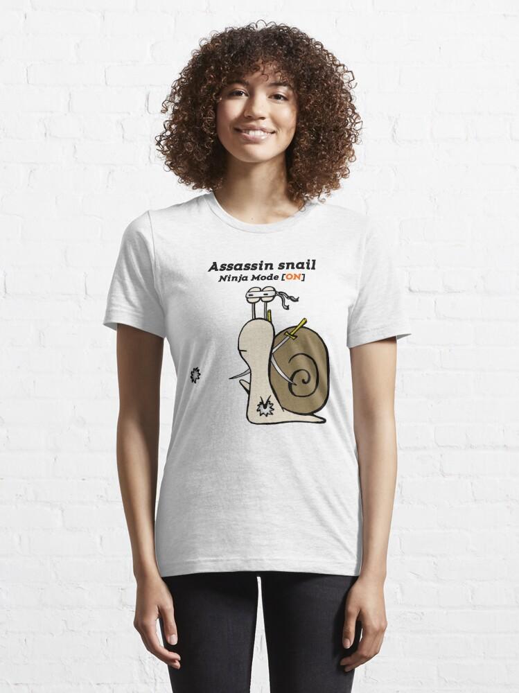 Alternate view of Funny Assassin Ninja Mode ON Snail Essential T-Shirt