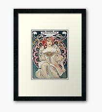 Vintage Alphonse Art Nouveau Poster Framed Print