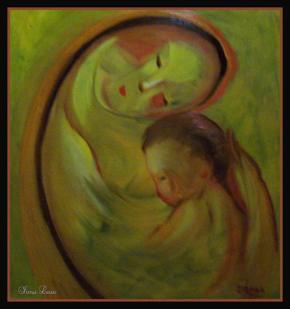 Modern Art-Mother And Baby. by Noel78