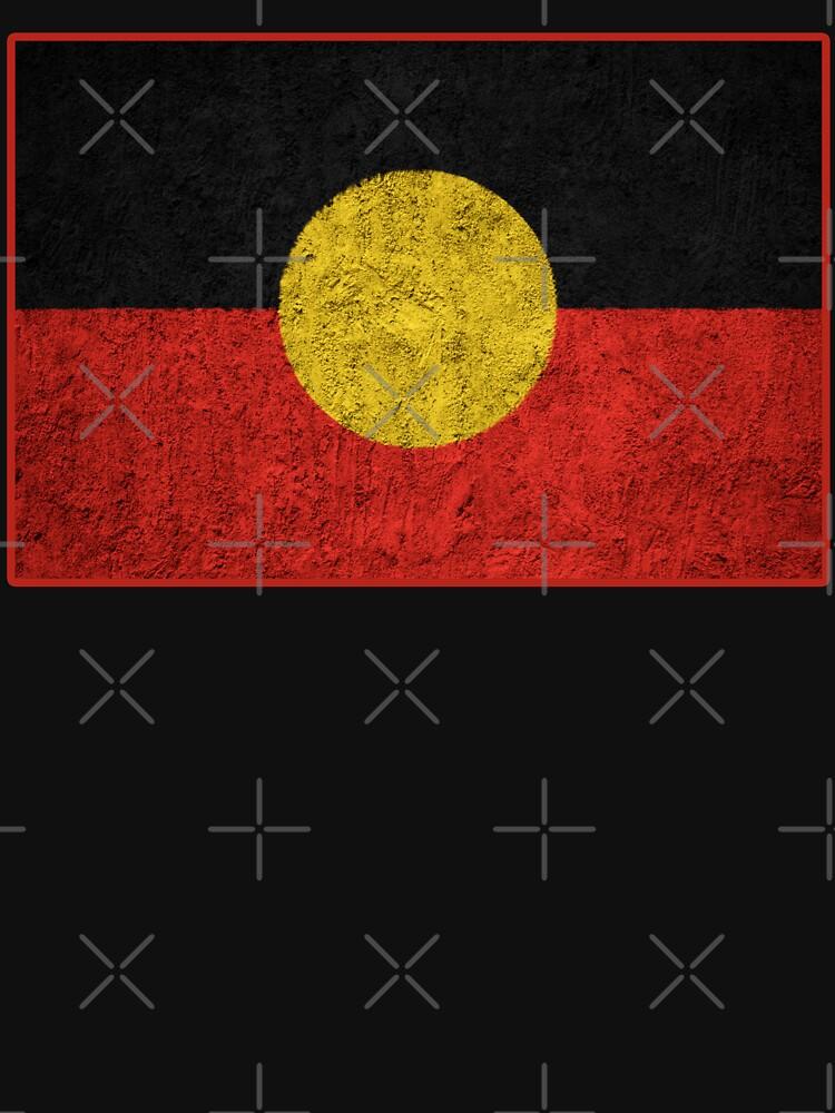 Distressed Aboriginal Flag by Trendoftee