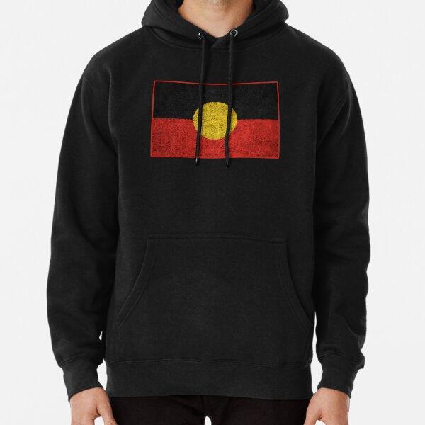Distressed Aboriginal Flag Pullover Hoodie