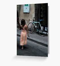 Father and daughter in Florence Greeting Card