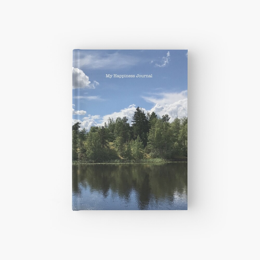 Happiness Journal / Lake Reflection Hardcover Journal