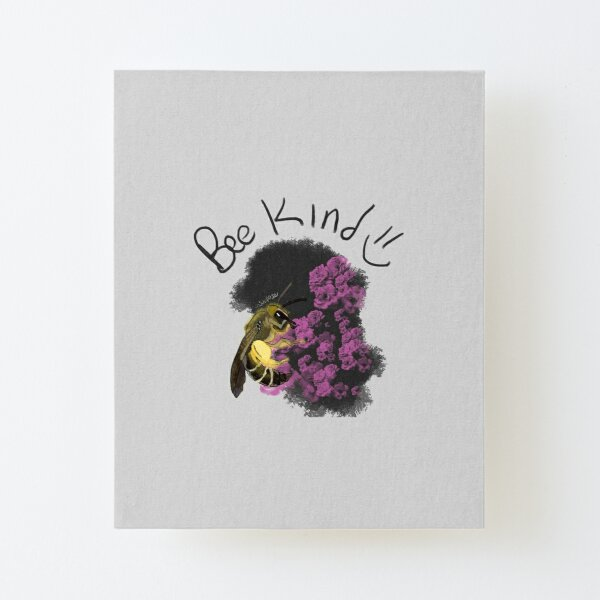 bee kind Canvas Mounted Print