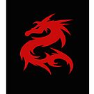 Red Dragon iphone case by Elaine Manley