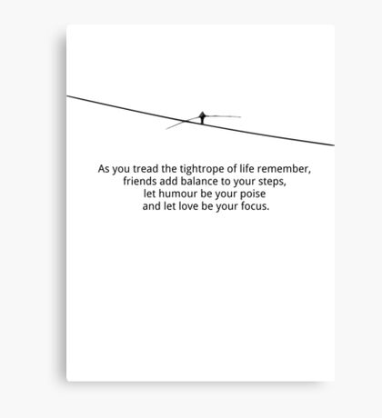 Tightrope of life Canvas Print