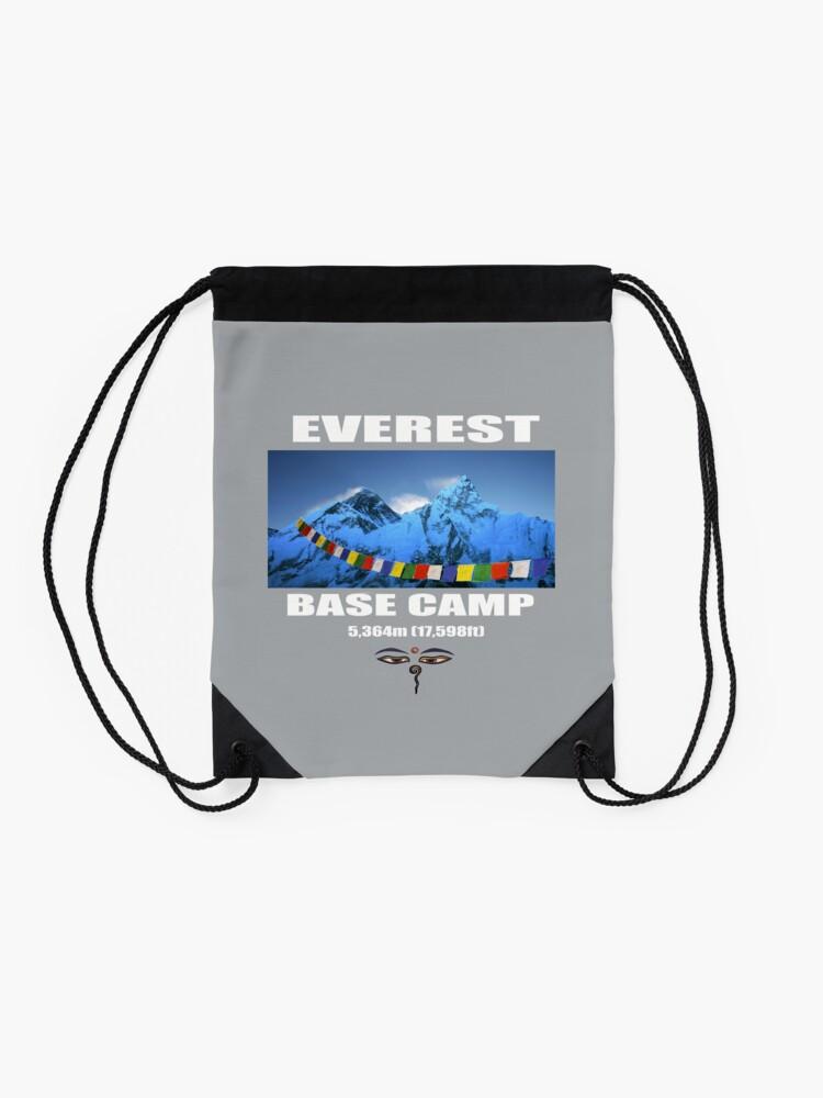 Alternate view of Everest Base Camp Drawstring Bag