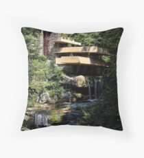 Falling Water by Frank Lloyd Wright Throw Pillow