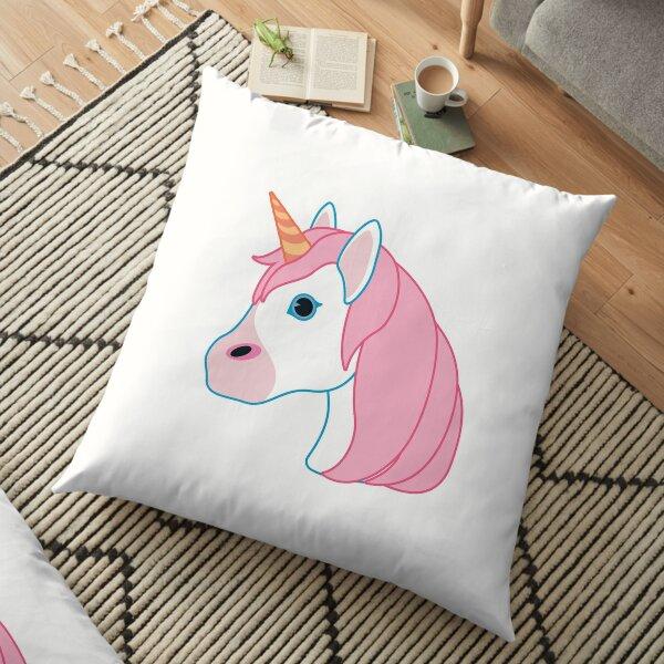 Pink Unicorn Emoji Floor Pillow