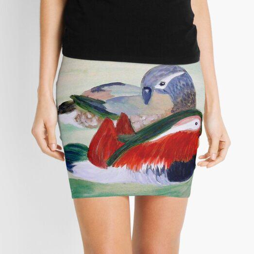Mandarin Ducks Mini Skirt