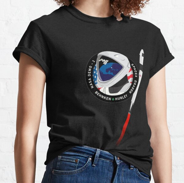 Spacex Crew Dragon Demo-2 mission Logo with F9 Classic T-Shirt