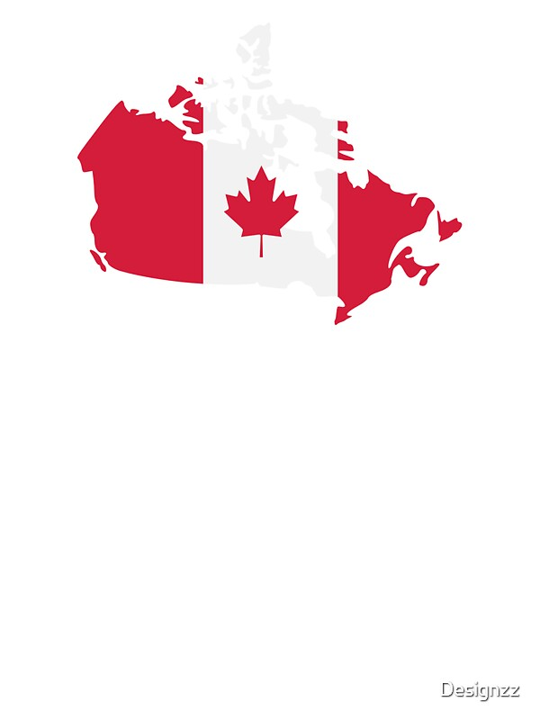 Canada Map Flag Stickers By Designzz Redbubble - Canada map with flag