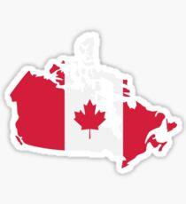 Canada map flag Sticker