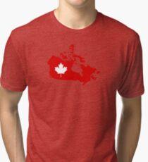 Canada map maple leaf Tri-blend T-Shirt