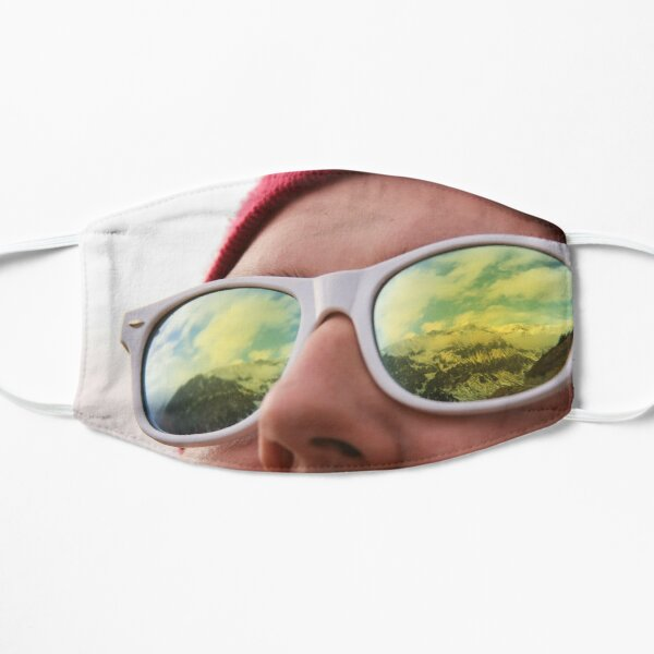 Mountains reflected in sunglasses Mask