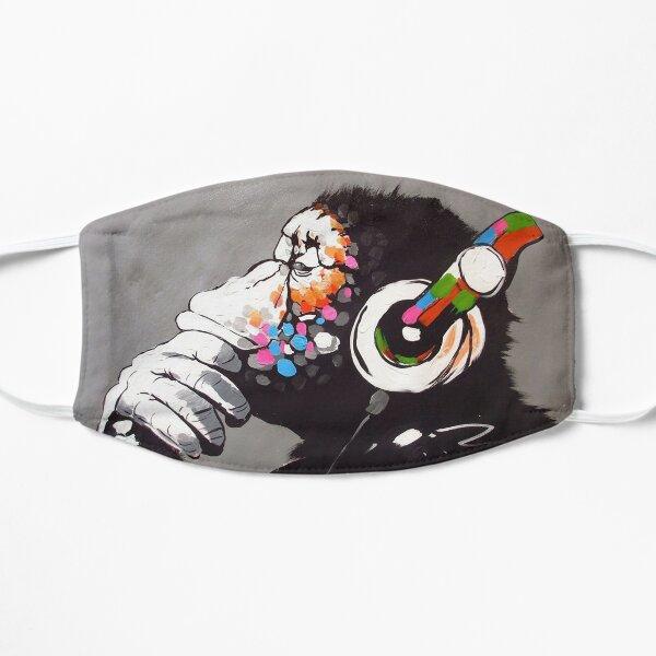 Banksy - Monkey with Headphones  Flat Mask