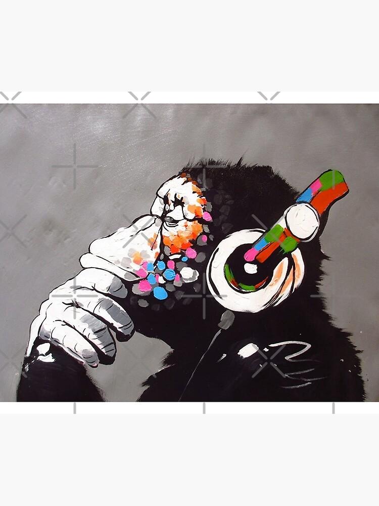 Banksy - Monkey with Headphones  by Luna7