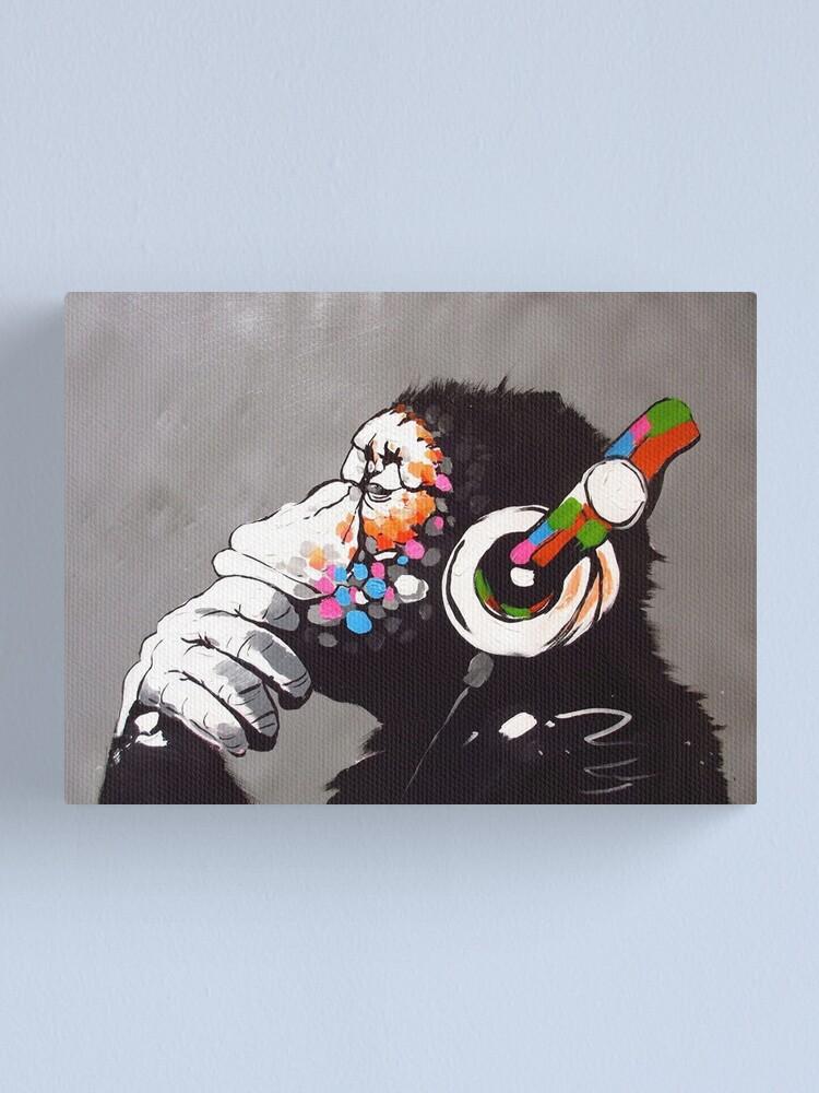 Alternate view of Banksy - Monkey with Headphones  Canvas Print