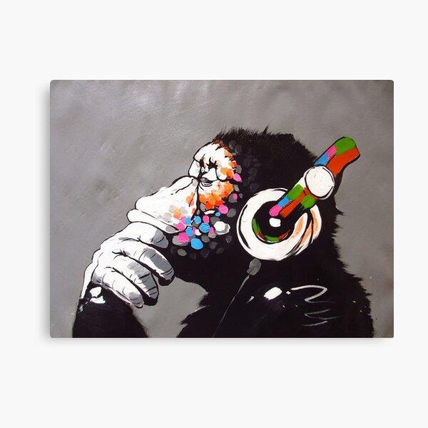 Banksy - Monkey with Headphones  Canvas Print