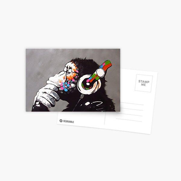 Banksy - Singe avec un casque Carte postale