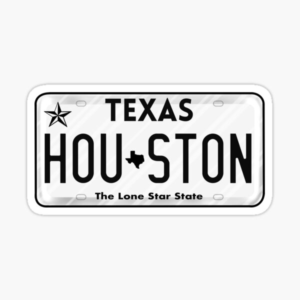 Texas License Plate Sticker