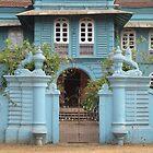 blue house by rainbowvortex