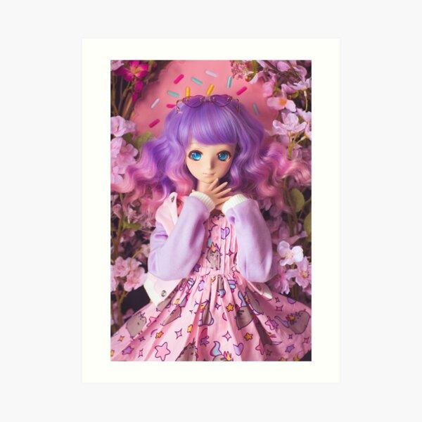 Pastel Queen · Melocotón Art Print