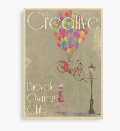 Creative Bicycle Owners Club Canvas Print