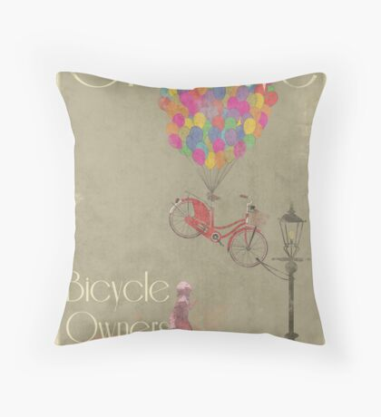 Creative Bicycle Owners Club Throw Pillow