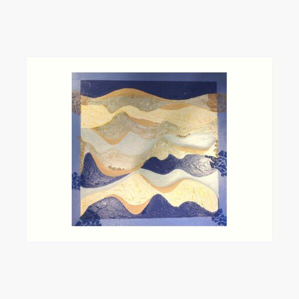 Cruise Blue Art Print
