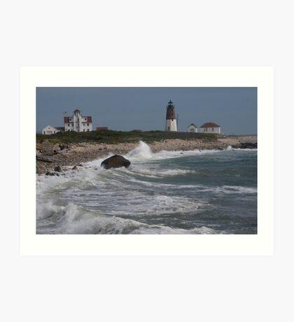 Point Judith Light House and Coast Guard Statiion Art Print