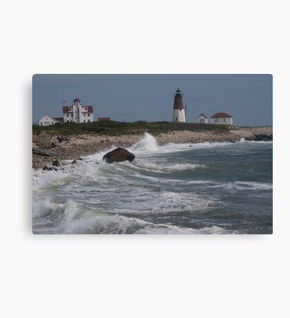 Point Judith Light House and Coast Guard Statiion Canvas Print