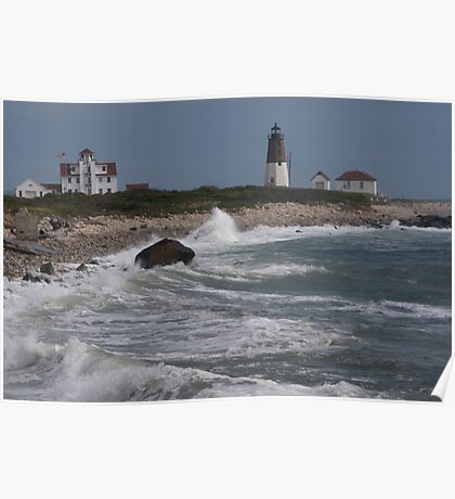 Point Judith Light House and Coast Guard Statiion Poster