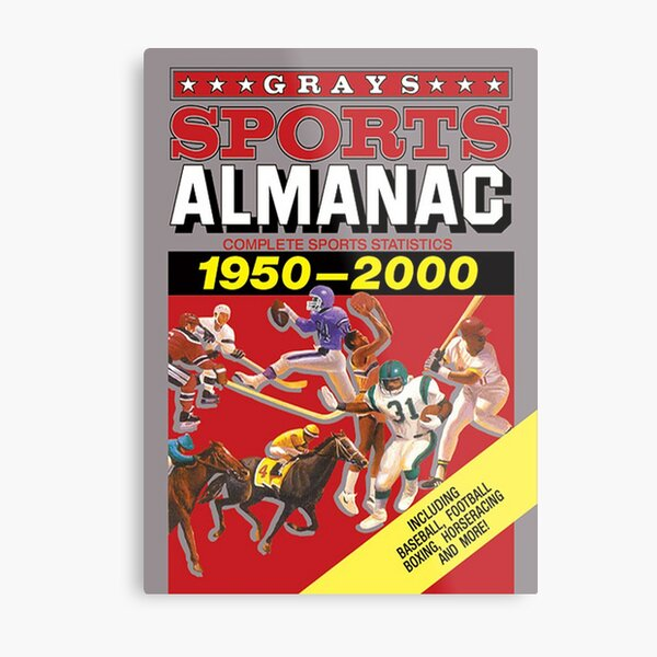 Grays Sports Almanac Complete Sports Statistics 1950-2000 Metal Print