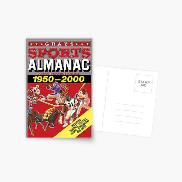 Grays Sports Almanac Complete Sports Statistics 1950-2000 Postcard