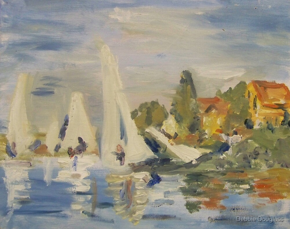 Reproduction of Monet 'Boating at Argenteuil' by Debbie Douglass