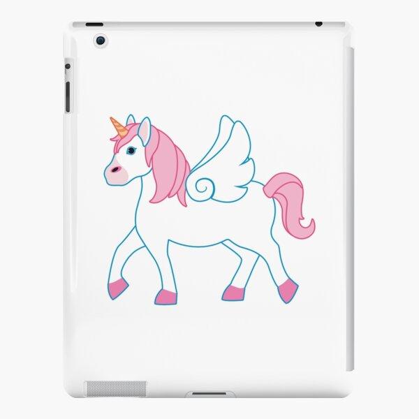 Pink Unicorn with Wings Emoji iPad Snap Case
