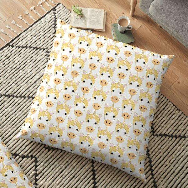 Yellow Unicorn Emoji Floor Pillow