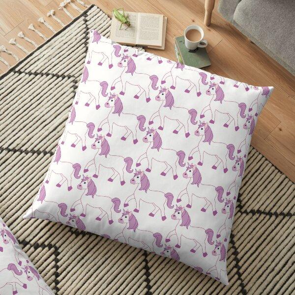 Purple Unicorn Emoji Floor Pillow