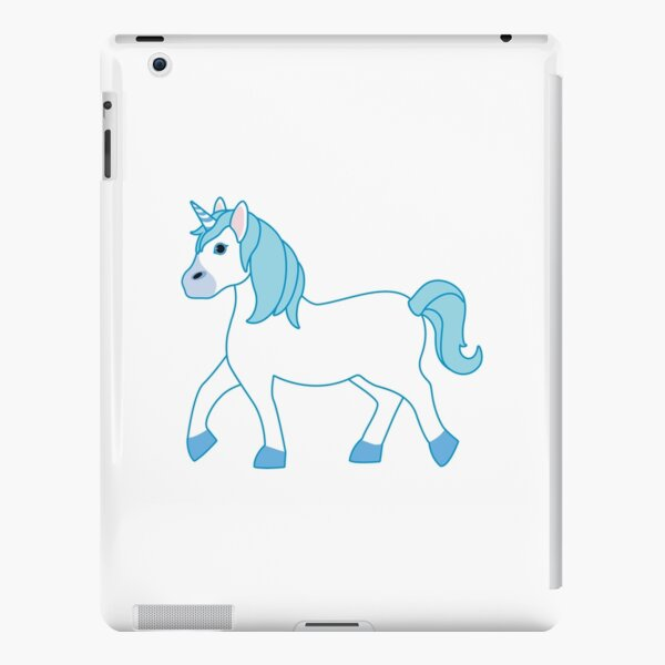 Blue Unicorn Emoji iPad Snap Case