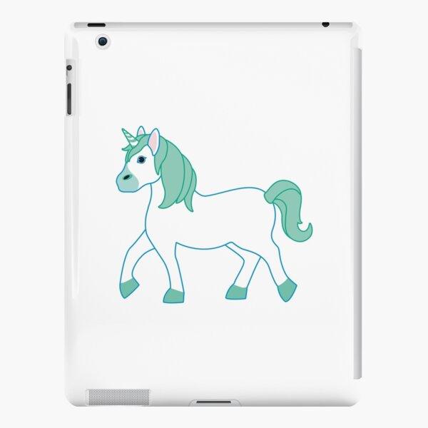 Green Unicorn Emoji iPad Snap Case