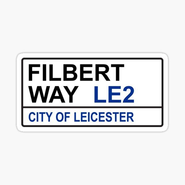 Leicester City Football Team Filbert Way Street Sign Sticker