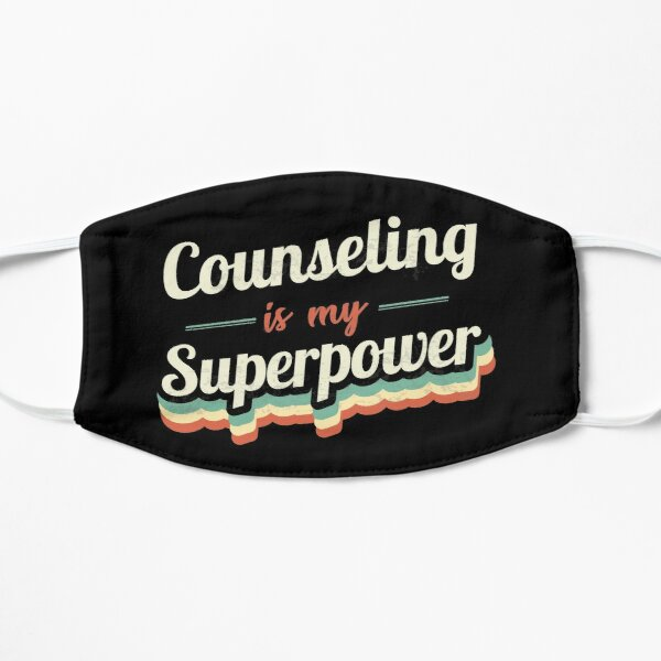 Counseling is my Superpower  Flat Mask