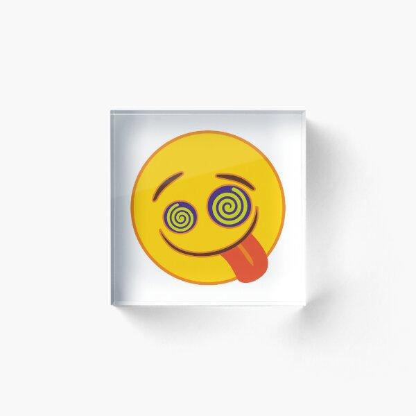 Crazy Eyes Emoji Acrylic Block