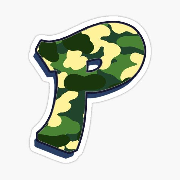 Letter P - Camo Sticker
